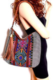 MMS Design Studio Boho Zip-top Hobo w/Fringe Charm (Black)