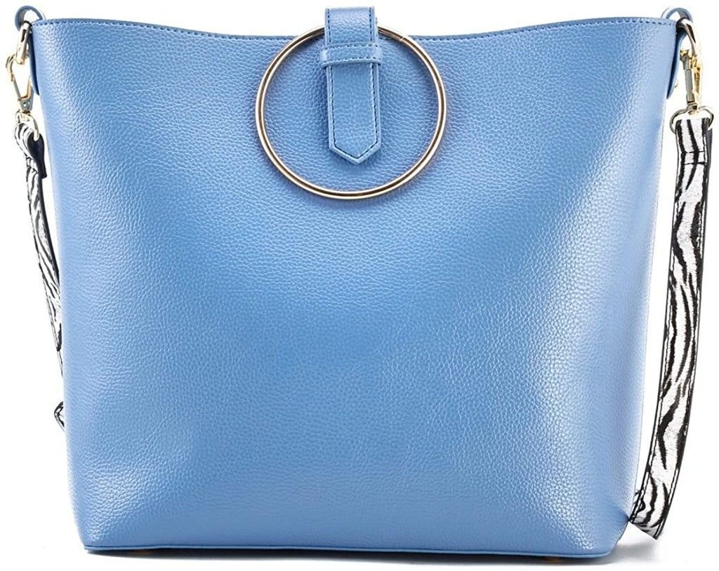 New Like Dreams Tigra Crossbody Tote w/Inner Pull-out Pouch/Crossbody (Blue)