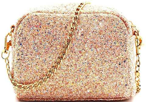 3am Forever Multi Sparkle Dome Mini Crossbody (Pink)