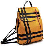 New Le Miel Simple Classic Plaid Convertible Backpack