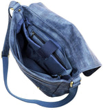 Handbag Republic Flap Messenger w/Tablet Holder + Adjustable Strap- Blue