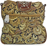 Montana West Rhinestone Sparkle Paisley Western Small Crossbody -Brown