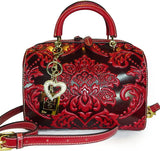 ALC Zinnia, Italian Leather Mini Boston Messenger - Red