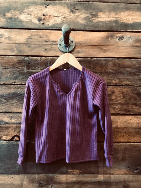 Purple thermal tunic