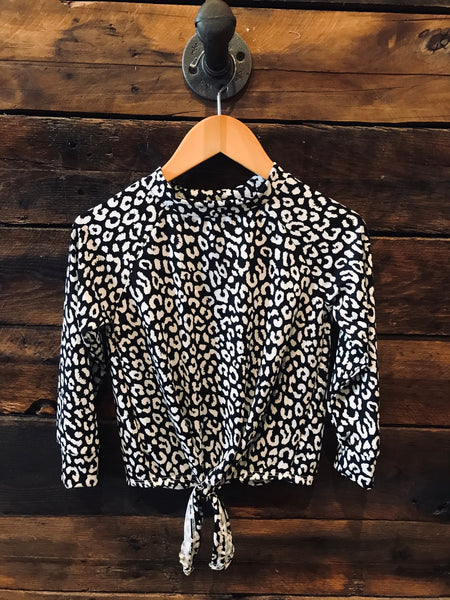 Black/White Cheetah tunic