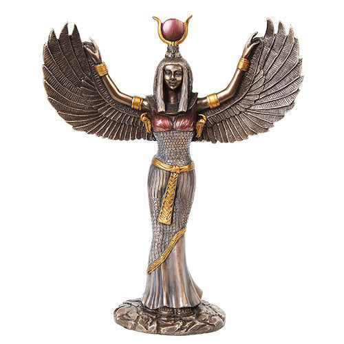 Isis Winged Bronze Statue