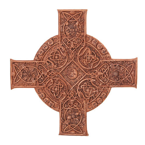 Elemental Celtic Cross Wood Finish