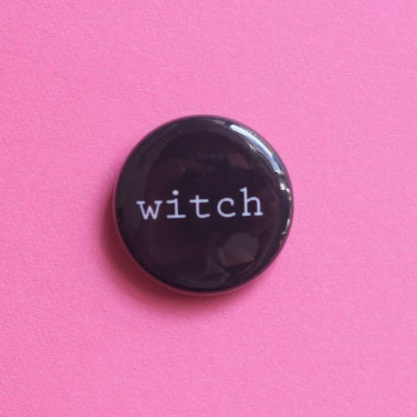 Witch Button Pin