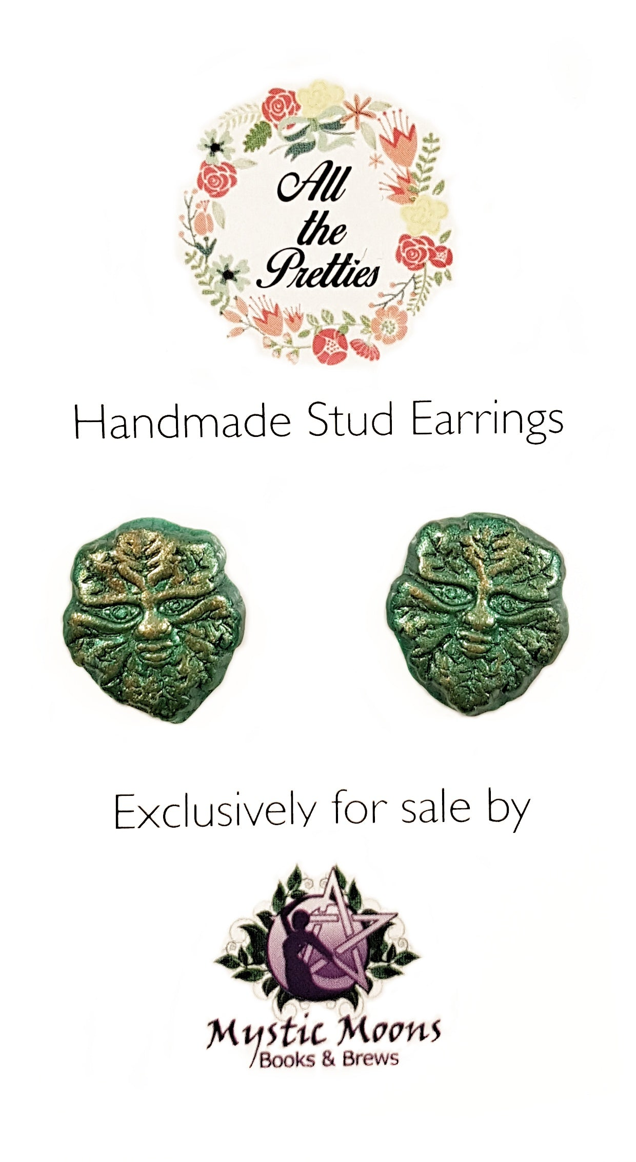 Greenman Stud Earrings