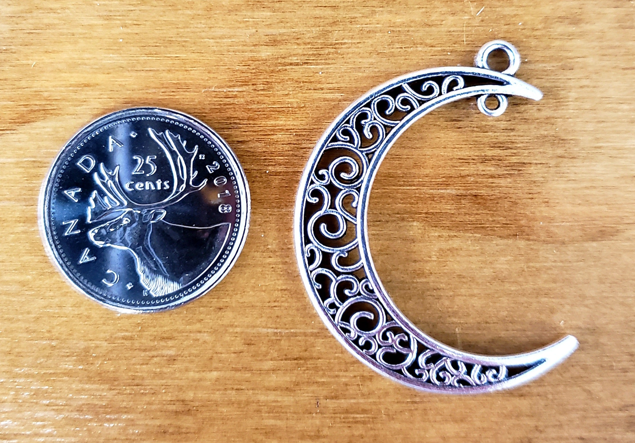 Crescent Moon Dangle Charm