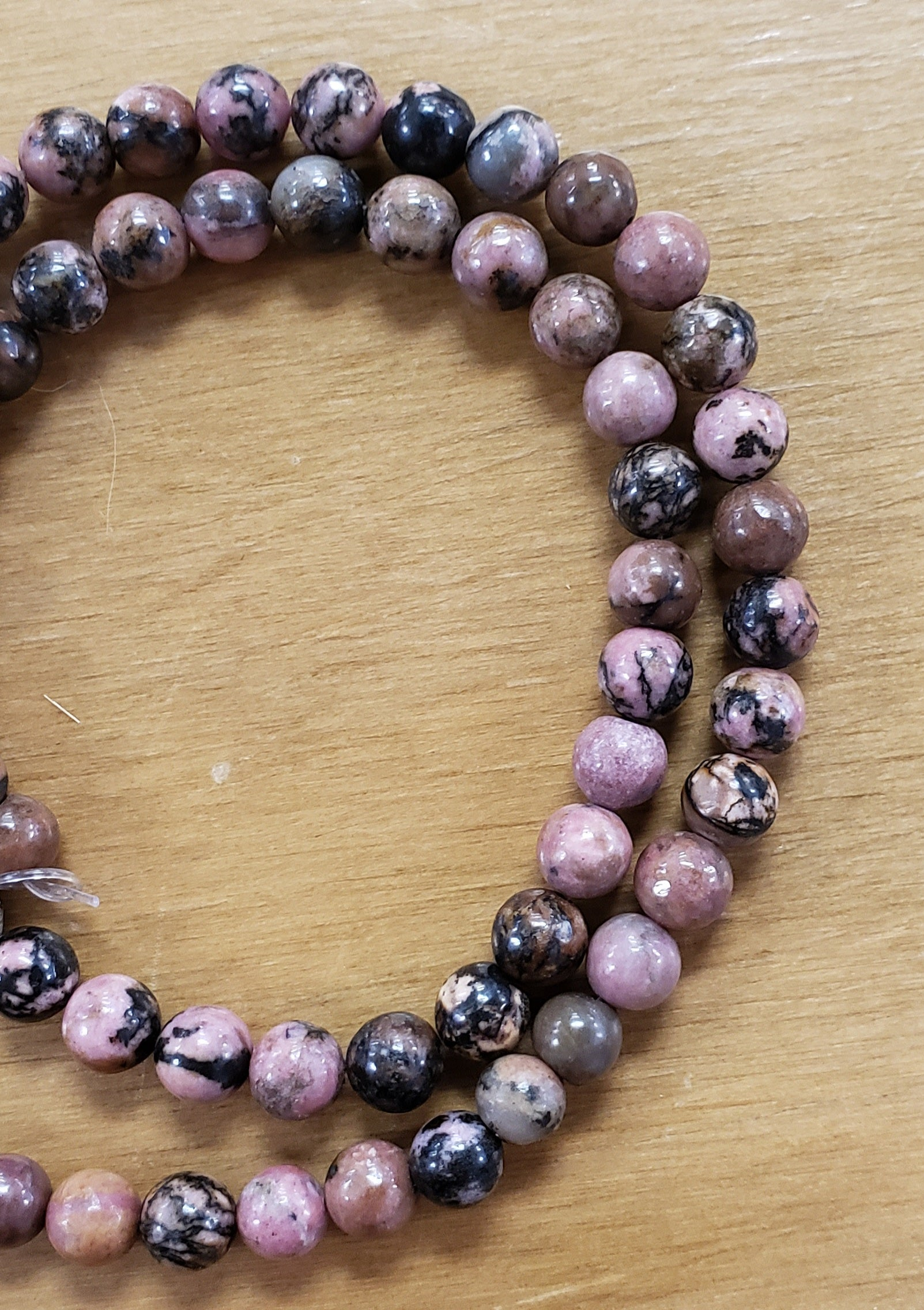 Rhodocrosite Beads 6mm
