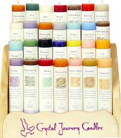 Crystal Journey Pillar Candles