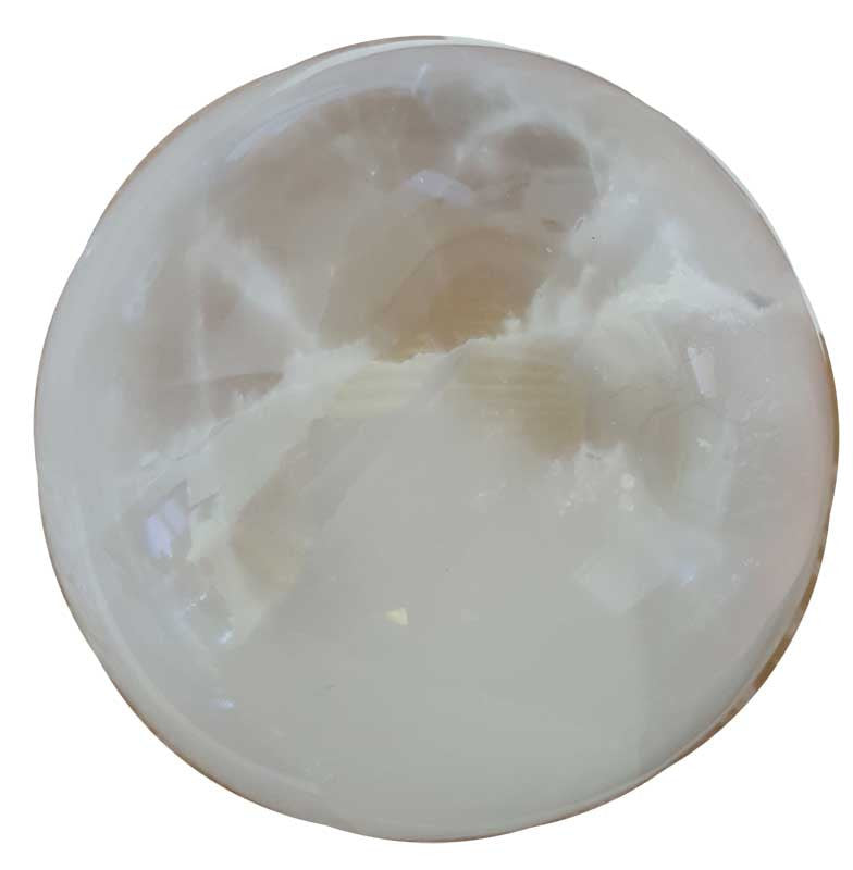 White Selenite Crystal Ball 5""