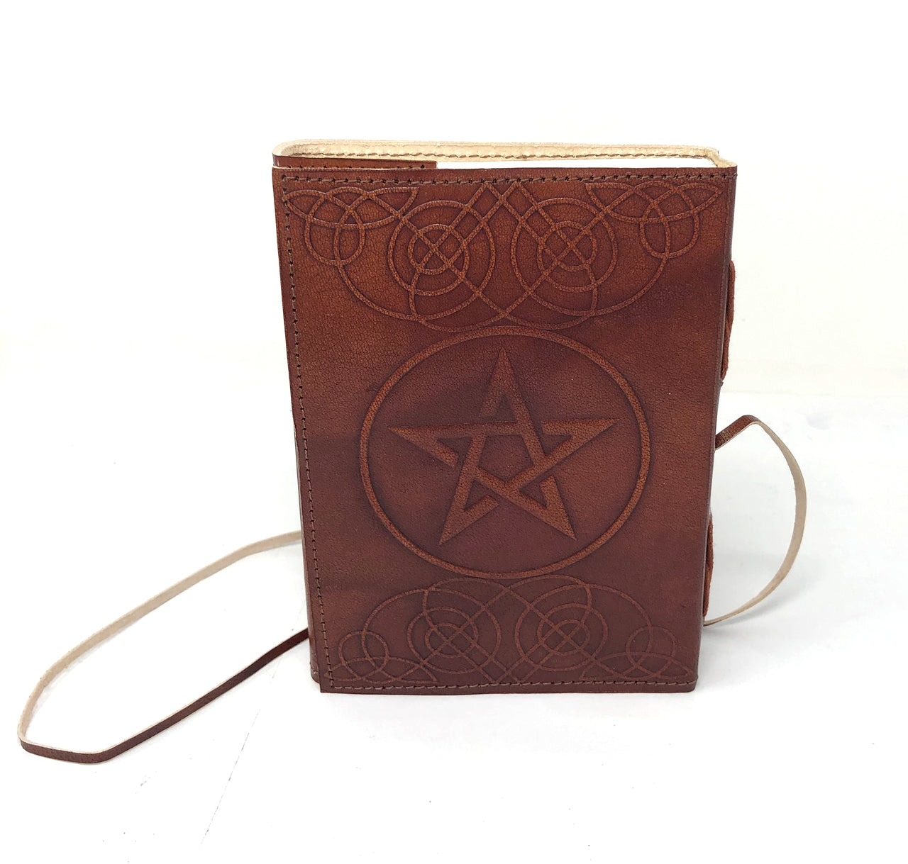 Pentacle Leather Wrap Journal