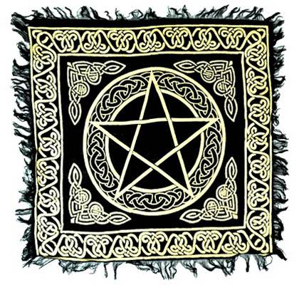 Gold Pentacle Altar Cloth