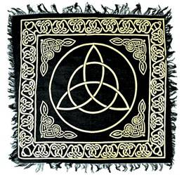 Gold Triquetra Altar Cloth