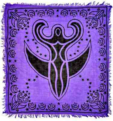 Purple Moon Goddess Altar Cloth