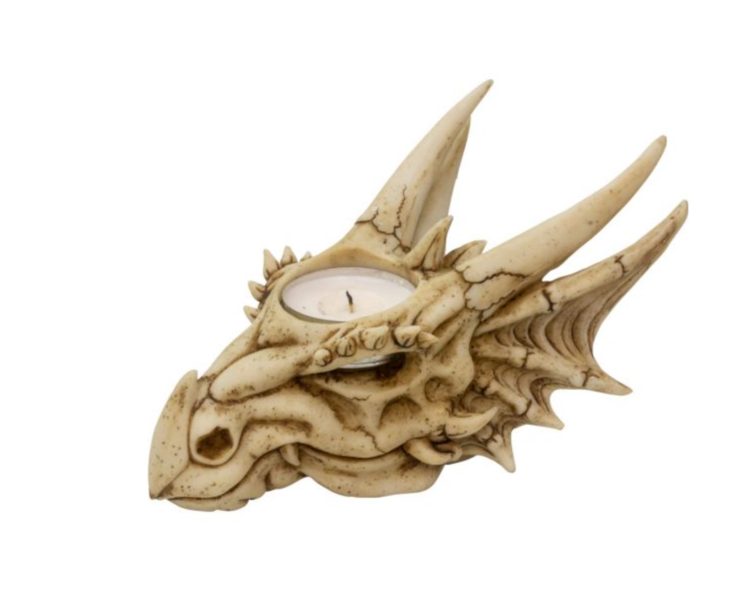 Dragon Skull Tea Light Holder