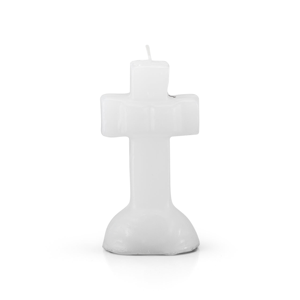 White Crucifix Candle
