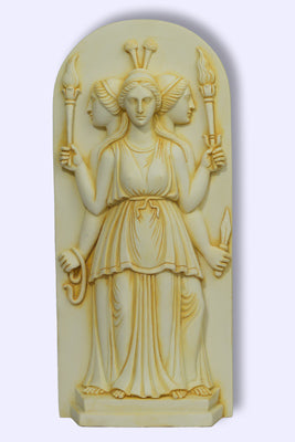 Hecate Triple Goddess Plaque/Statue
