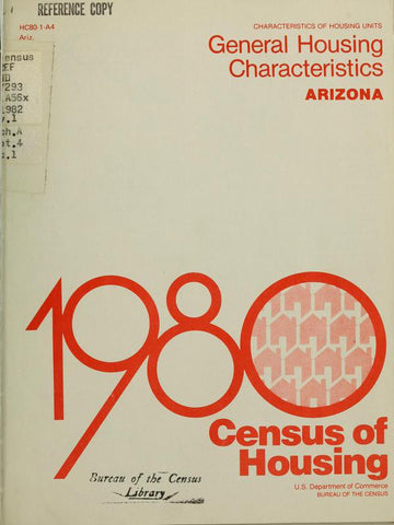 1980 Census Of Housing.  General Housing  Characteristics. United States Summary - Repressed Publishing - 1