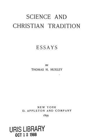 Science And Christian Tradition.: Essays