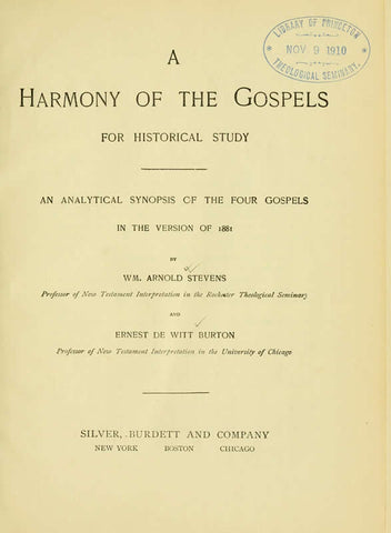 A Harmony Of The Gospels For Historical Study: An Analytical Synopsis Of The Four Gospels In The Version Of 1881 - Repressed Publishing - 1