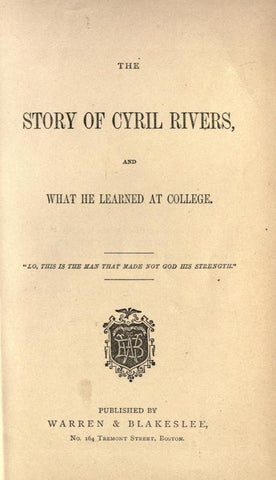 The Story Of Cyril Rivers And What He Learned At College