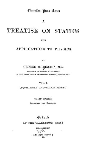 A Treatise On Statics, With Applications To Physics