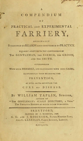 A Compendium Of Practical And Experimental Farriery - Repressed Publishing - 1
