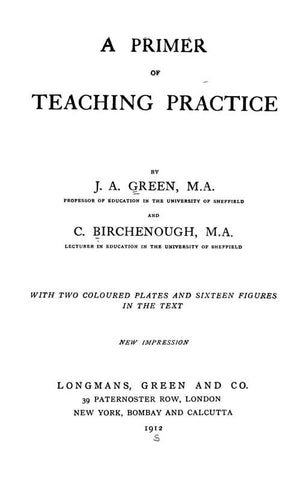 A Primer Of Teaching Practice