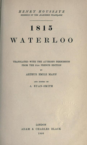 1815, Waterloo - Repressed Publishing - 1