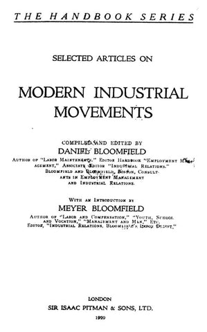 Modern Industrial Movements