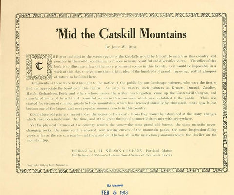 'Mid The Catskill Mountains - Repressed Publishing - 1