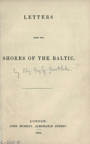 Letters From The Shores Of The Baltic