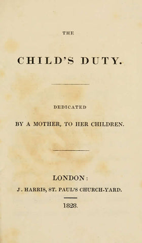 The Child's Duty