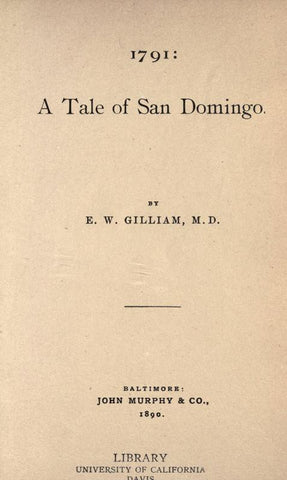 1791: A Tale Of San Domingo - Repressed Publishing - 1