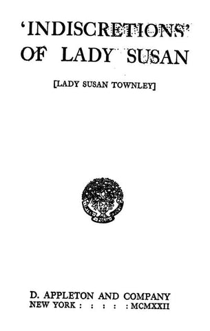 'Indiscretions' Of Lady Susan - Repressed Publishing - 1