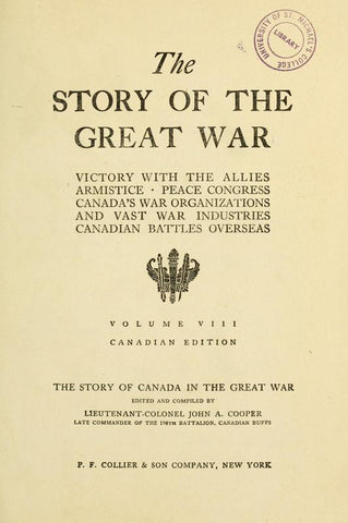 The Story Of The Great War: History Of The European War From Official Sources, Complete Historical Records Of Events To Date