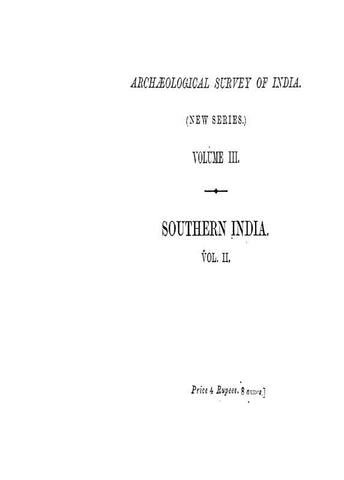 South Indian Inscriptions Vol I