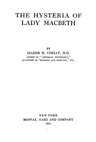 The Hysteria Of Lady Macbeth