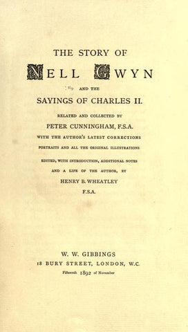 The Story Of Nell Gwyn: And The Sayings Of Charles Ii