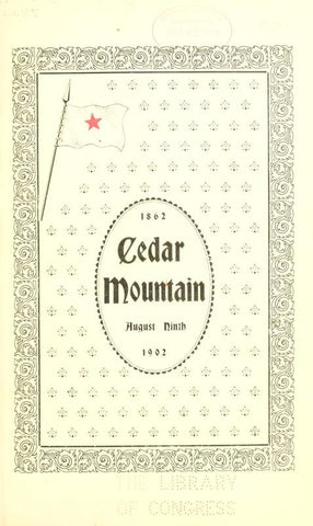 1862, Cedar Mountain, August Ninth, 1902 - Repressed Publishing - 1