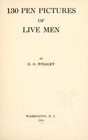 130 Pen Pictures Of Live Men - Repressed Publishing - 1