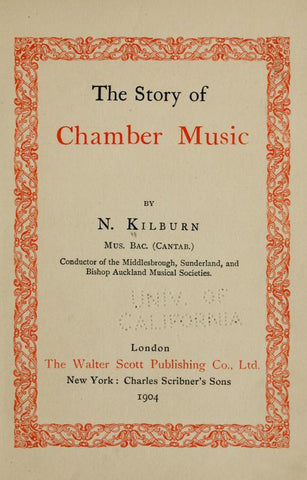 The Story Of Chamber Music