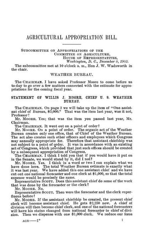 Agricultural Appropriation Bill 1904