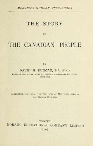 The Story Of The Canadian People