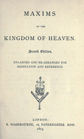 Maxims Of The Kingdom Of Heaven