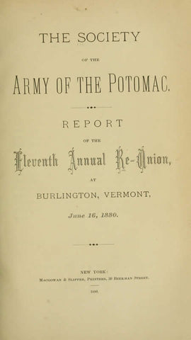 Report Of The Annual Re-Union