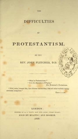 The Difficulties Of Protestantism